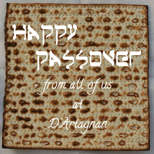 Happy passover center of the plate dartagnan blog matzah passover greeting m4hsunfo